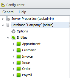 customize business database