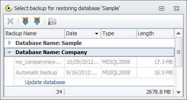 Database Backup and Restore