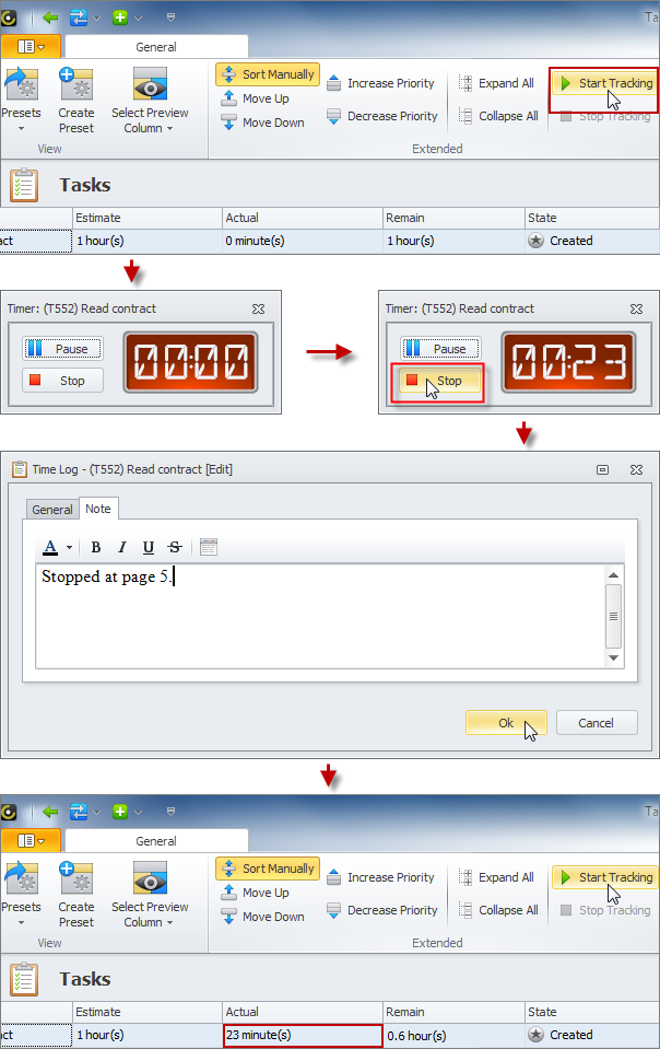 add time log automatically task timer software