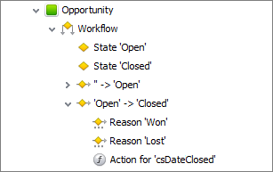 database entity workflow action