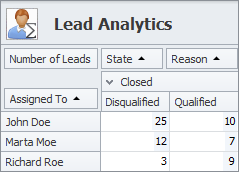 sales crm leads pivot table